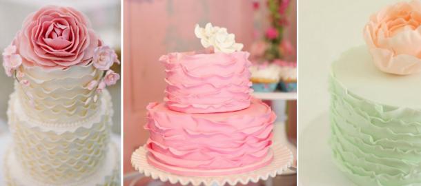 bolos com folhos