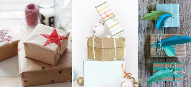 Como Fazer Embrulhos de Natal Originais