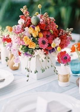 Decoração Mesas Casamento -verão