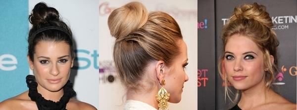 Penteados de Festa para Cabelos Compridos - top knot