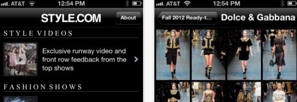 Style.com - melhores apps moda iphone